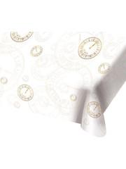 Happy New Year wit goud Tafelkleed