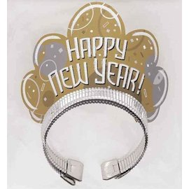 Gouden Happy New Year tiara's