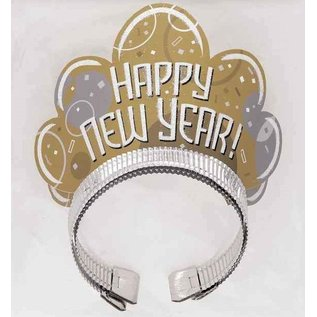 Gouden Happy New Year tiara's
