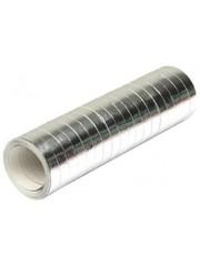 Metallic zilveren serpentines