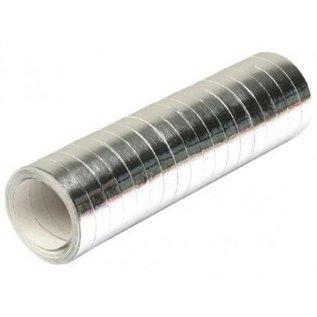 Metallic zilveren serpentines 4 meter
