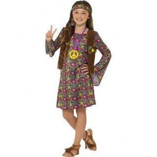 Seventies Hippie meisjes verkleedkleding