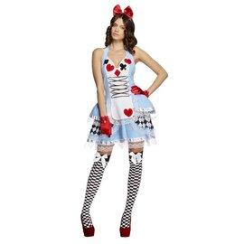 Alice in wonderland sprookjes kostuum