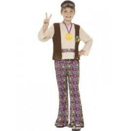 Vrolijk gekleurd hippie jongens kostuum