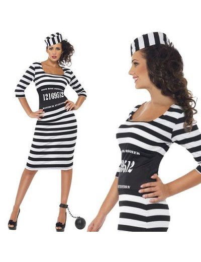 Sexy boef gevangenis kostuum