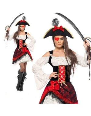 Glamour Dames piraten kostuum