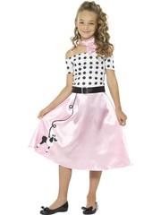 Jaren 50 Poodle Girl Meisjes Kostuum