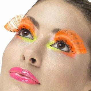 80's Neon oranje polka dot nepwimpers
