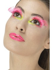 80's Neon Roze Polka Dot Wimpers