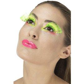 80's Neon groene polka dot nepwimpers