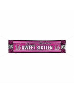 Sweet 16 straatbanner 180cm