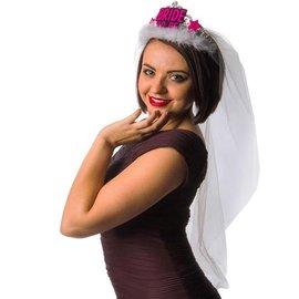 Zwart met Roze Bride to Be Tiara