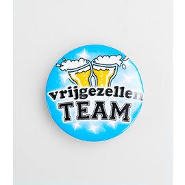 Blauwe  Vrijgezellen team button