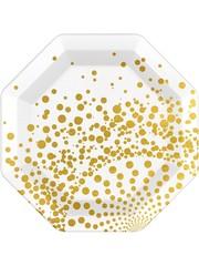 Witte borden met goud design