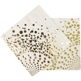 Witte servetten met goud design