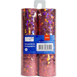 Metallic roze serpentine 2 rollen