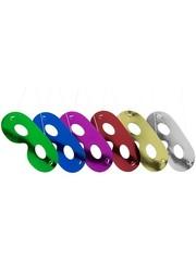 Gekleurde metallic oogmaskers