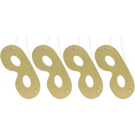 Gouden glitter oogmaskers