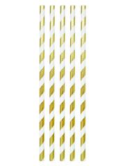 Wit Gouden Papieren Rietjes