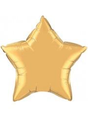 Folieballon ster Goud - 1, 10, 50stk