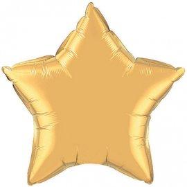 10x Gouden Ster Folieballonnen