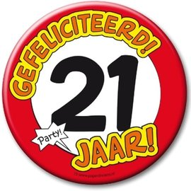 XL button 21 jaar