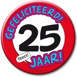 XL button 25 jaar