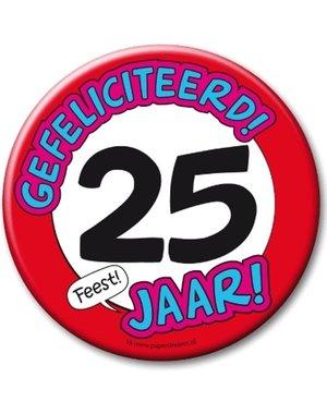 XL button 25 jaar