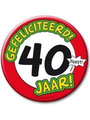 XL button 40 jaar