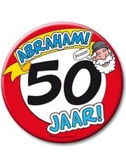 XL button 50 jaar Abraham