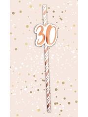 Papieren rietjes met 30