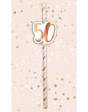 Papieren rietjes met 50