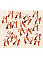 Grote rosé gouden 21 confetti