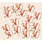 Grote rosé gouden 30 confetti