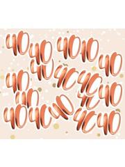 Grote rosé gouden 40 confetti
