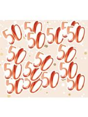 Grote rosé gouden 50 confetti