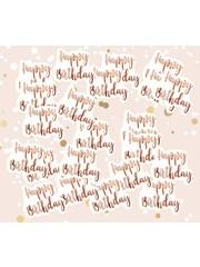 Grote rosé gouden Happy Birthday confetti