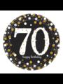 Zwart Gouden Sparkling 70 jaar bordjes