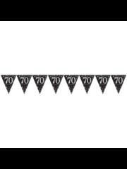 Zwart Goud Zilveren 70 jaar Vlaggenlijn