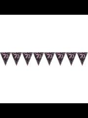 Zwart Roze 70 jaar Vlaggenlijn