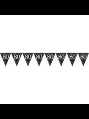 Zwart Goud Zilveren 80 jaar Vlaggenlijn