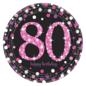 Zwart Roze Sparkling 80 jaar bordjes