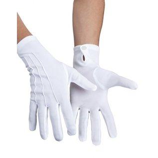 Witte handschoen Basic met knoop