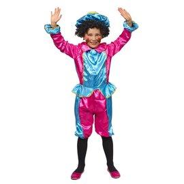 Lichtblauw/Roze Pietenpak Kindermaat
