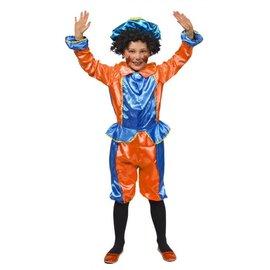 Blauw/Oranje Pietenpak Kindermaat