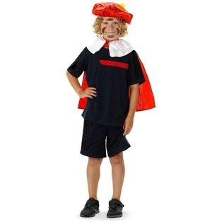Rode Pieten baret kraag en cape