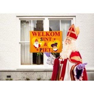 Welkom Sint en Piet Raamvlag