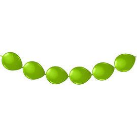 8x Groene Knoop Ballonnen Ballonnenboog