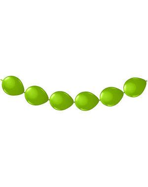 Knoop Ballonnen Groen - 8stk