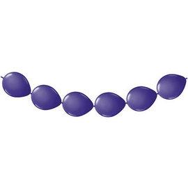 8x Paarse Linking Knoop Ballonnen Ballonnenboog